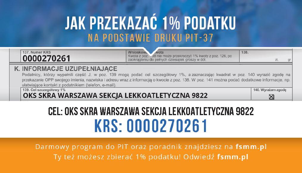 Instrukcja przekazania 1% podatku PIT